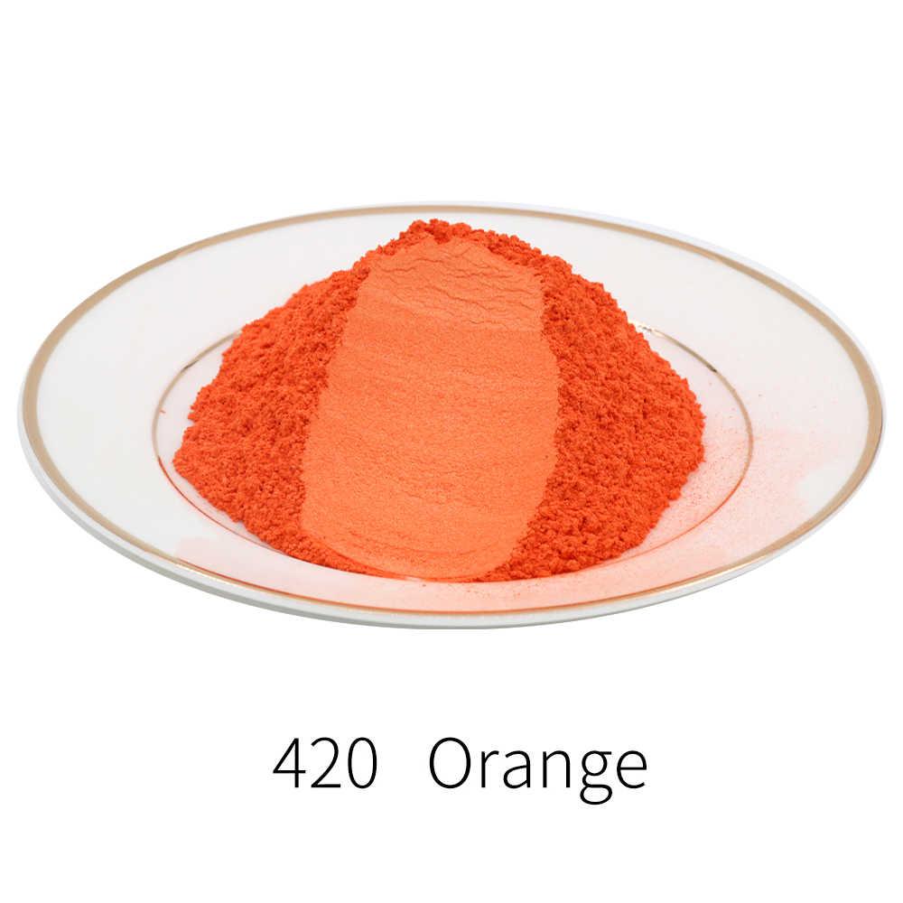 Tipe 420 Pigmen Bubuk Mutiara Mineral Mika Debu Pewarna Pewarna untuk Sabun Otomotif Seni Kerajinan 10G 50G Acrylic cat Mika Bubuk