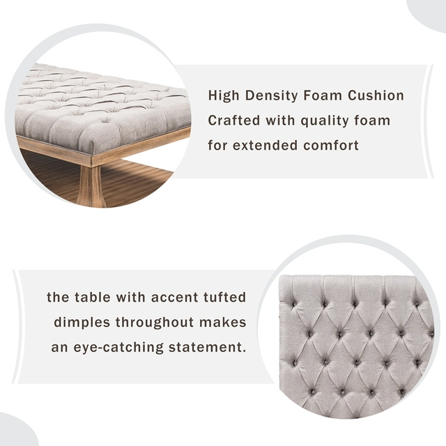 Upholstered Storage Bench With Wood Shelf 4