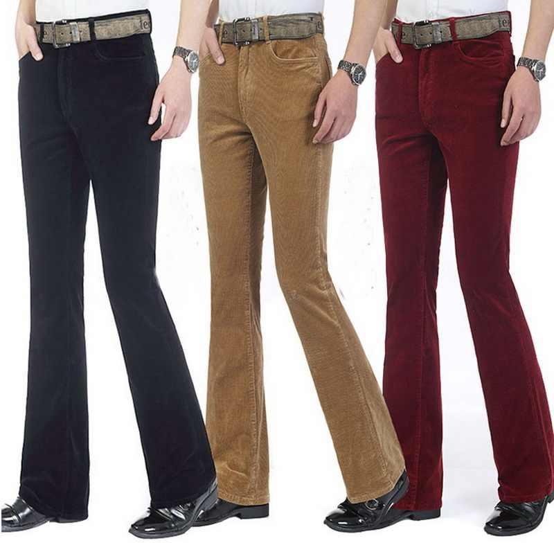 Pantalones Para Hombre Pantalones Casuales Comerciales Pantalones De Pana Pantalones Acampanados Para Hombre Pantalones Calientes Pantalones Acampanados Para Hombre Pantalones Acampanados Aliexpress