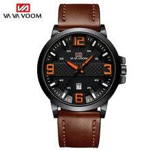Топ люксовый бренд Мужские часы силиконовый ремешок кварцевые