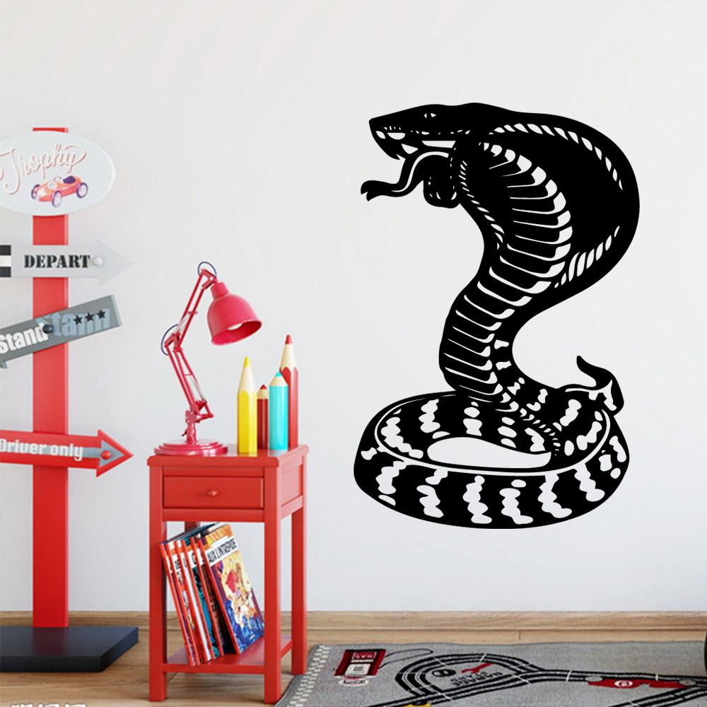 Beauty Snake Home Decor Vinyl Wall Stickers For Kids Rooms Decoration Wall Stickers Waterproof Wallpaper image