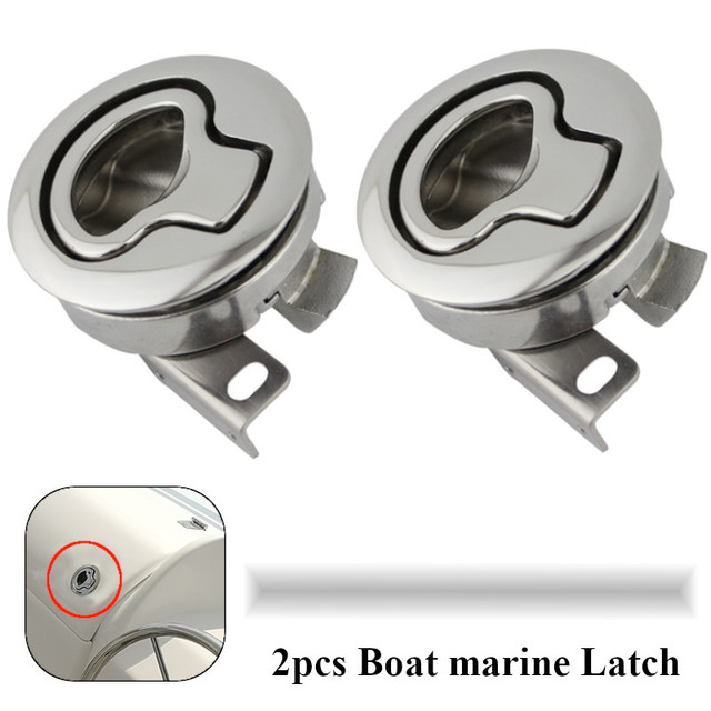 2PCS Spiegel Poliert edelstahl Flush Boot marine Latch Flush Pull Riegel Slam heben griff Deck Hatch marine hardware