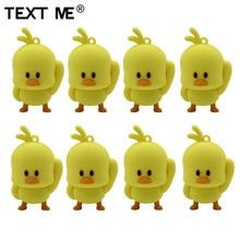 TEXT ME cartoon śliczny żółty kurczak styl pamięć usb 2.0 4GB 8GB 16GB 32GB 64GB pendrive śliczny prezent