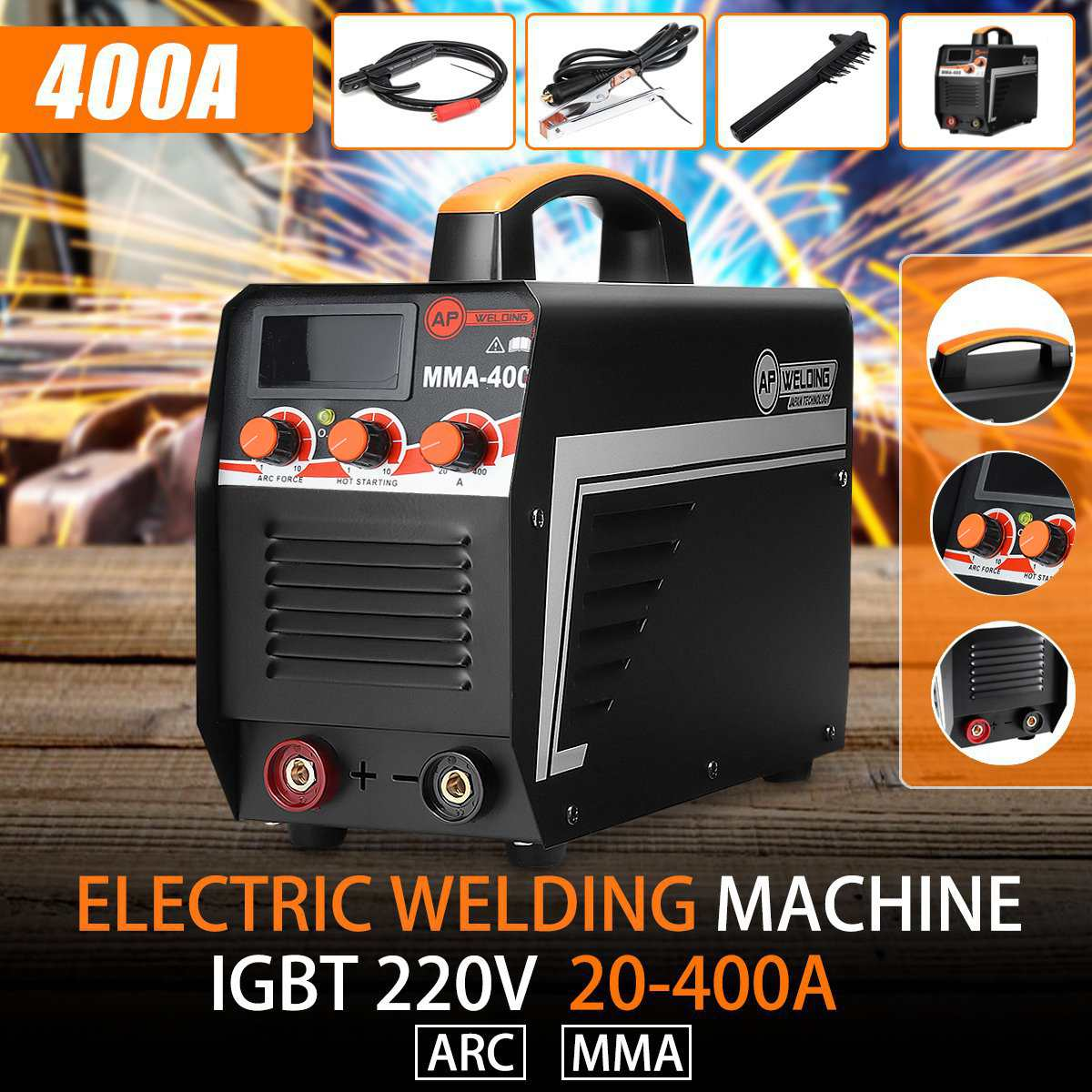 Electric Welding Machine IGBT Inverter Arc Welder Digital Display Portable Mini Arc Welding Machine Welder 220V Welding Tools