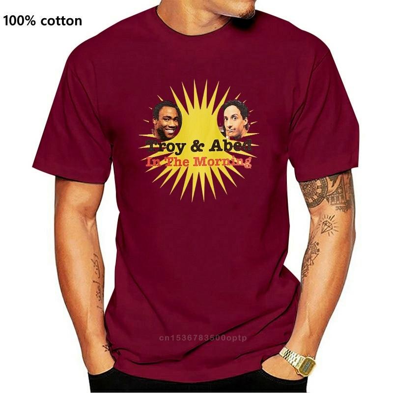 Классический Ман уникальный хлопок рубашка с короткими рукавами с О-образным вырезом Футболка он-лайн сообщества Troy And Abed, футболка