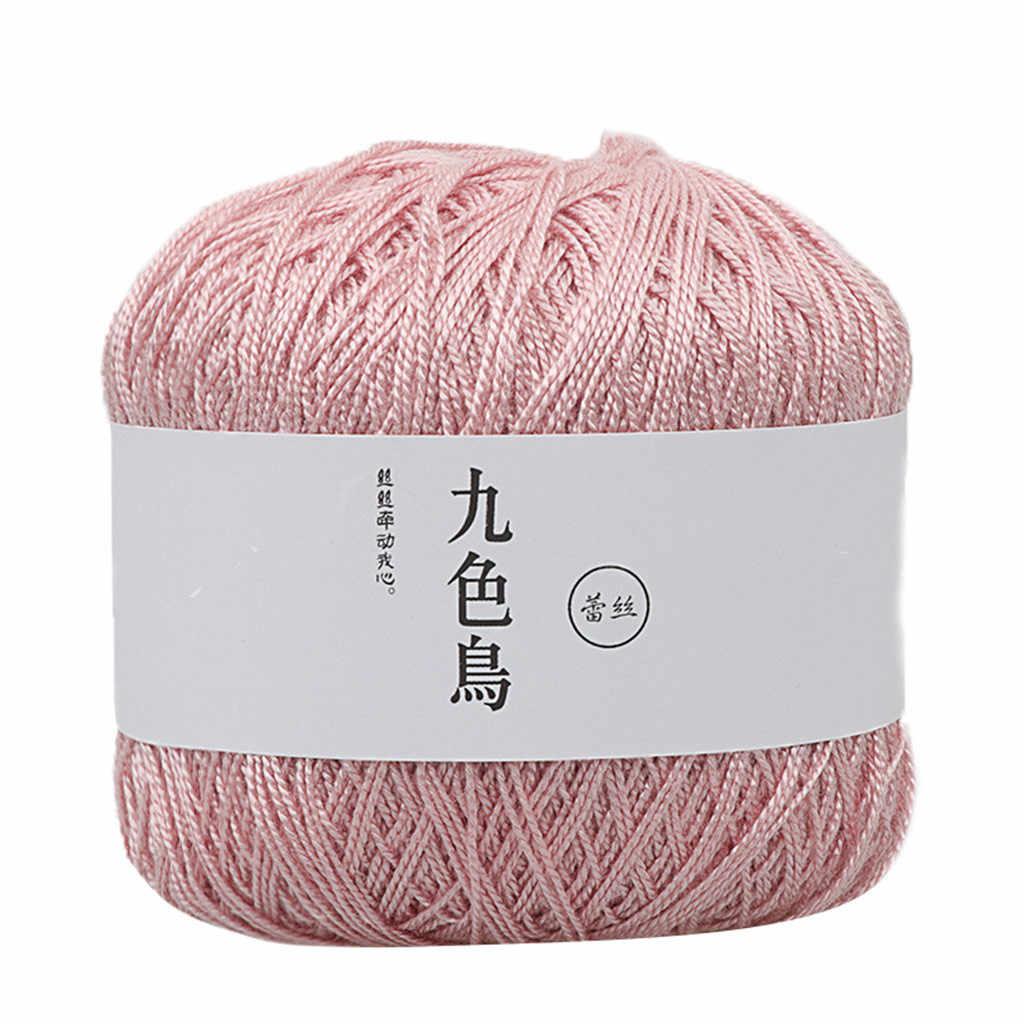 Fil de dentelle bricolage coton tissé fil de coton fin Crochet fil de coton pour tricoter doux fil peigné Crochet fil offre spéciale