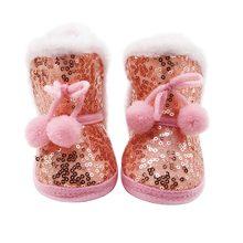 Теплые зимние ботинки с блестками для новорожденных мальчиков