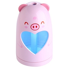 Mini Usb Cute Air Humidifier Silent Ultrasonic Diffuser Colorful Led Light For Home Office Car Pink цена и фото