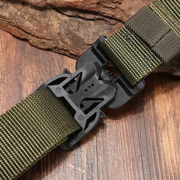 FRALU NEW Military Equipment Combat Tactical Belt for Men US Army Training Nylon Magnetic Buckle Waist Belt Outdoor Hunting belt 2