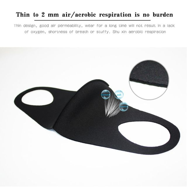 1pc Washable Unisex Universal Pollution Mask Anti Dust Flu Smoke Mask With Earloop Respirator Safety Mask 2