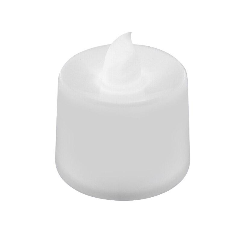 Мерцающий беспламенный светодиодный чайный светильник мерцающий чайный подсвечник вечерние свадебные подсвечники безопасность украшения дома - Цвет: Белый