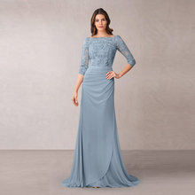 Потрясающее пыльно синее ТРАПЕЦИЕВИДНОЕ кружевное платье для