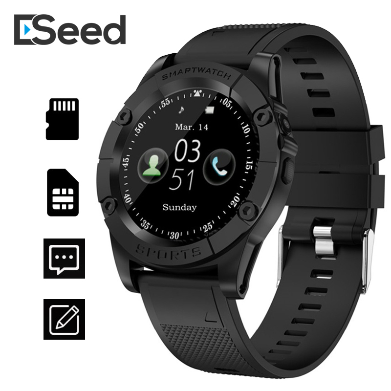 ESEED SW98 Smart watch men support TF SIM Card Pedometer Camera 380mah Bluetooth Smartwatch for Android ios PK dz09 B57 watch