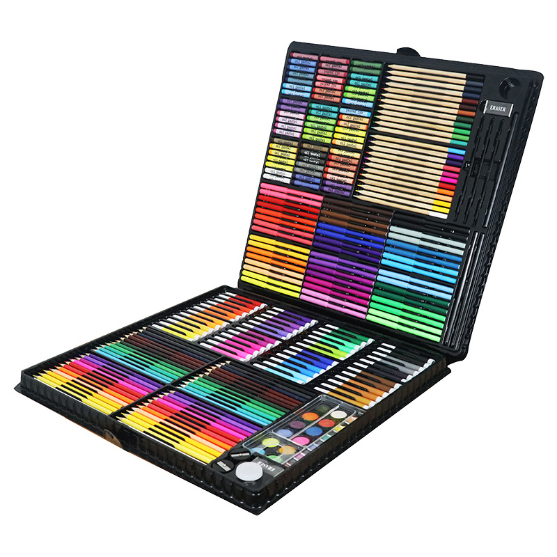 288 Pcs/Set Painting Drawing Art Set Paint Brushes Markers Watercolor Colours Pens Water Color Pencils Arter Supplies Kids Gift