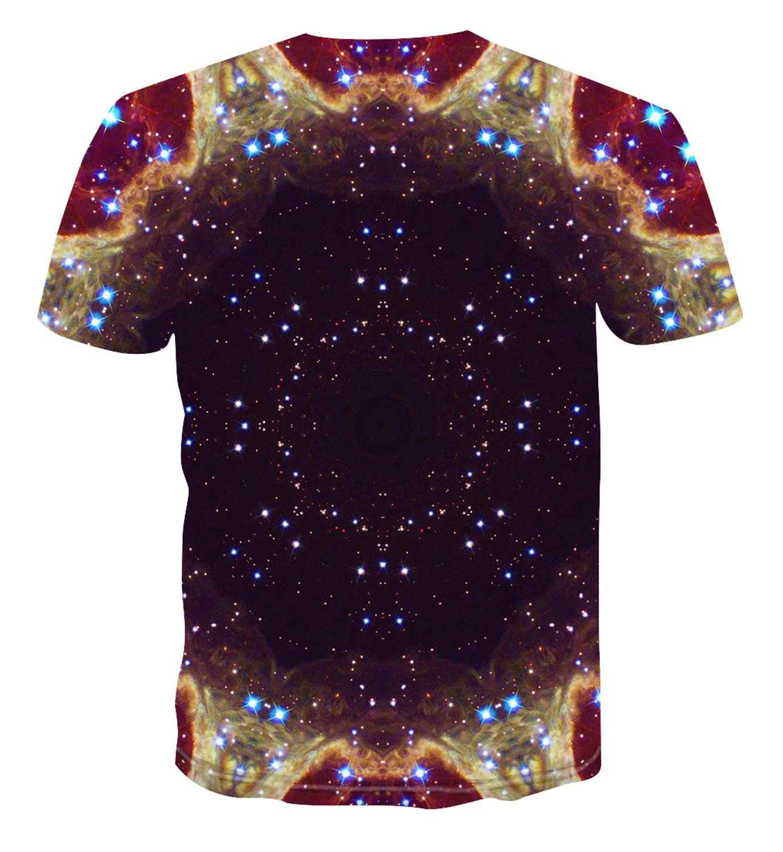 2020 Gaya Musim Panas Baru Pria T-shirt Berwarna-warni Kreatif 3D Cetak T-shirt Hip-Hop Kasual T-Shirt Atas s-6XL