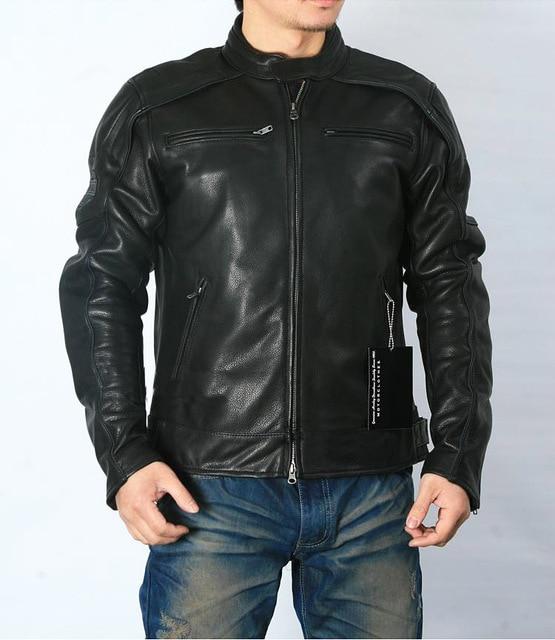 משלוח חינם. בתוספת גודל קלאסי גברים פרה עור מעילים, גברים של אמיתי עור אופנוען. מותג מנוע עור מעיל