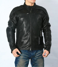 Free shipping.plus size classic men cow leather Jackets,mens genuine Leather biker jacket.Brand motor leather coat