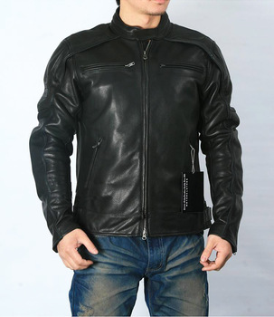 Free shipping.plus size classic men cow leather Jackets,men's genuine Leather biker jacket.Brand motor coat - discount item  10% OFF Coats & Jackets