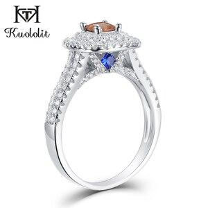 Image 1 - Kuololit Diaspore Sultanite แหวนพลอยสำหรับสตรี 925 เงินสเตอร์ลิงสีเปลี่ยนตุรกี zultanite งานแต่งงานเครื่องประดับ