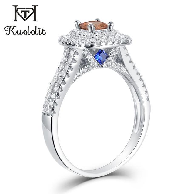 Kuololit Diaspore Sultanite Gemstone Ring for Women Solid 925 Sterling Silver Color Change Turkey zultanite Wedding Fine Jewelry