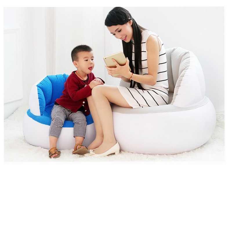 어린이/성인 홈 야외 풍선 라운드 소파 몰려들 된 PVC 공기 의자 발 펌프와 게으른 쿠치를 날려