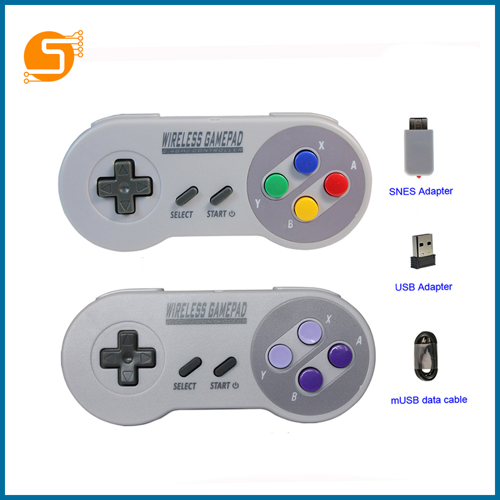 S TOBOT Wireless Gamepad 2.4GHZ, Suitable For SNES Super Nintendo Classic MINI Game Console Remote Control Accessories RPI163