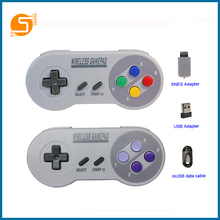 S TOBOT wireless gamepad 2.4GHZ, suitable for SNES Super Nintendo classic MINI game console remote control accessories RPI163 wireless gamdpad game joystick for super nintendo sfc snes classic portable console video game gamepad