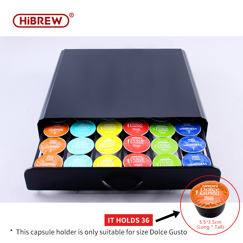 HiBREW Coffee Capsule Storage Box,Coffee Capsule Holder