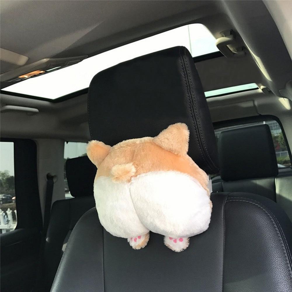 Universal Novelty Bottom Car Seat Neck Pillow Dog Buttocks Headrest Cushion 9 in