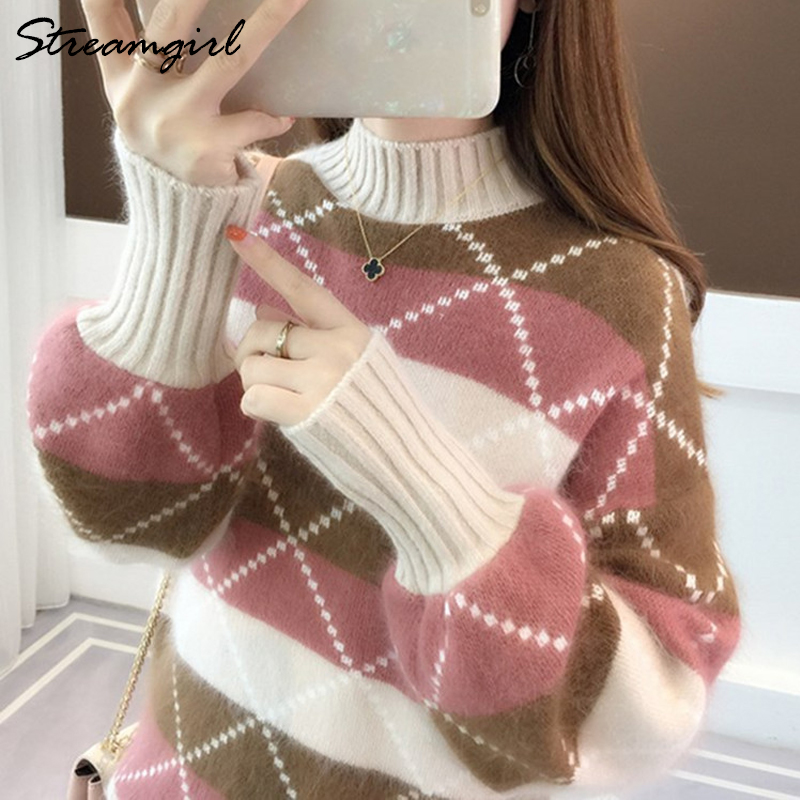 Warm Sweater Women Winter Clothes 2019 Knit Pullover Sweaters Female Turtle Neck Sweater For Women Jumper Warm Sweaters Ladies