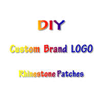 Brand LOGO Patch DIY Embroidered Patches Letter Heat transfer Iron on Patches For Clothing Custom Patch Badges Applique Stripes