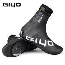 GIYO Waterproof Cycling Overshoes Bicycle Shoes Covers Bike Reflective Windproof MTB Road Winter Fleece Warm Bike Lock Protector