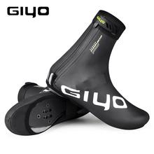 GIYO wodoodporne ochraniacze na rower buty rowerowe pokrowce rowerowe odblaskowe wiatroszczelne MTB Road Winter Fleece ciepła blokada do roweru Protector tanie tanio CN (pochodzenie) NYLON Pasuje prawda na wymiar weź swój normalny rozmiar RD-100 PU + Fleece Interior M L XL XXL Black