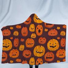 Детское зимнее теплое одеяло с рисунком тыквы на Хэллоуин, домашняя забавная накидка, детское одеяло, плащ с капюшоном, вечерние костюмы для косплея