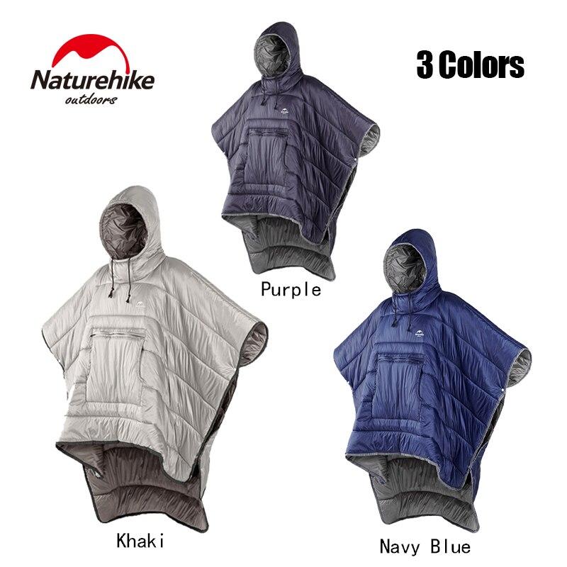 naturehike saco de dormir estilo capa unisex impermeavel portatil acampamento ao ar livre quente preguicoso dormir