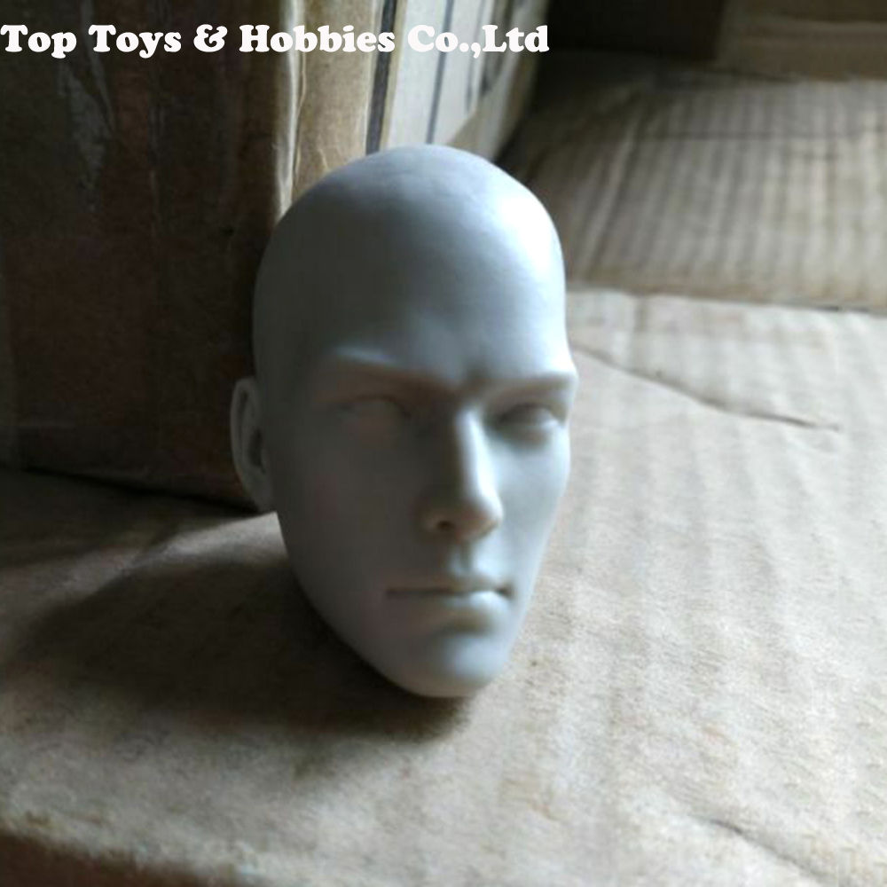 1/6 Scale Male Unpainted Head Carved Bald Head Carving Model Toys Gift