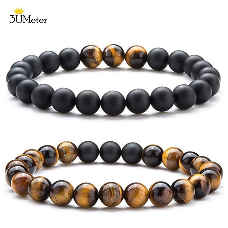 Bracelet Set Tiger Eye And Black Onyx