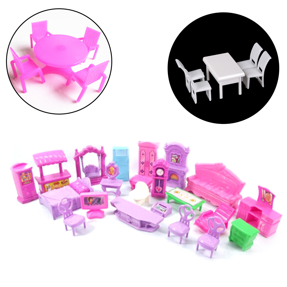 1Set Furniture Miniature Rooms For Doll 3D Dolls House Set Baby Kids Pretend Play Toys Christmas Gift