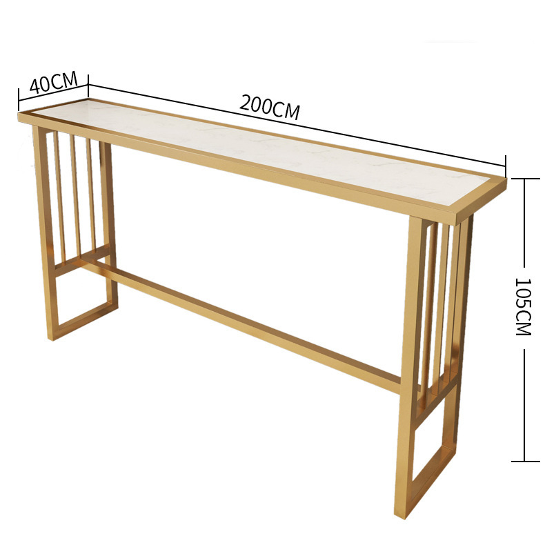 Nordic Marble Bar Table Wrought Iron Net Red High Table Home Living Room Partition Cabinet Simple Modern Bar Chair