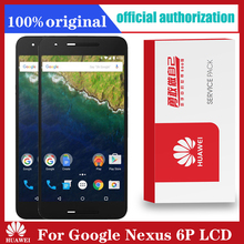 محول رقمي لشاشة LCD أصلية 5.7 بوصة لهاتف هواوي جوجل نيكزس 6P تعمل باللمس مع استبدال مجمع الإطار Nexus 6P LCD