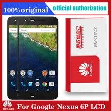 """Original 5.7 """"para huawei google nexus 6p display lcd digitador da tela de toque com montagem quadro substituição nexus 6p lcd"""