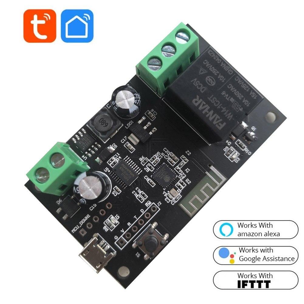 Wi-Fi реле Tuya Smart модуль автоматического включения света 12V приложение Smart life дистанционного Управление таймер