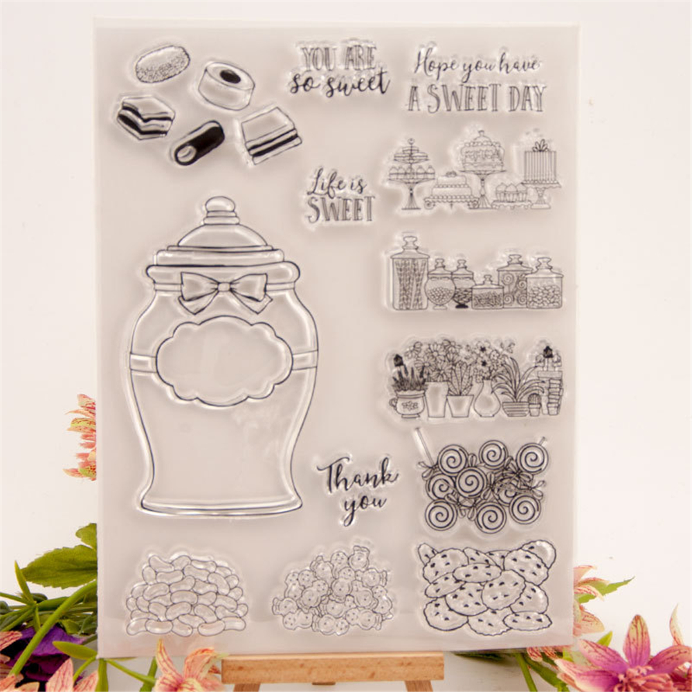 2020 Christmas Stamp Us Candy Words Metal Cutting Dies and Clear Stamps Set New 2020