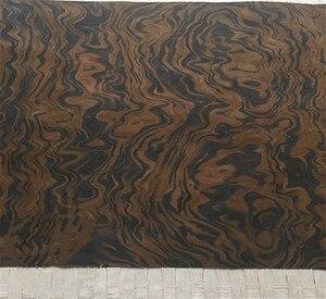 Image 3 - Placage de bois technique noyer noir ronce racine placage dingénierie E.V. 62x250cm Tissu Support