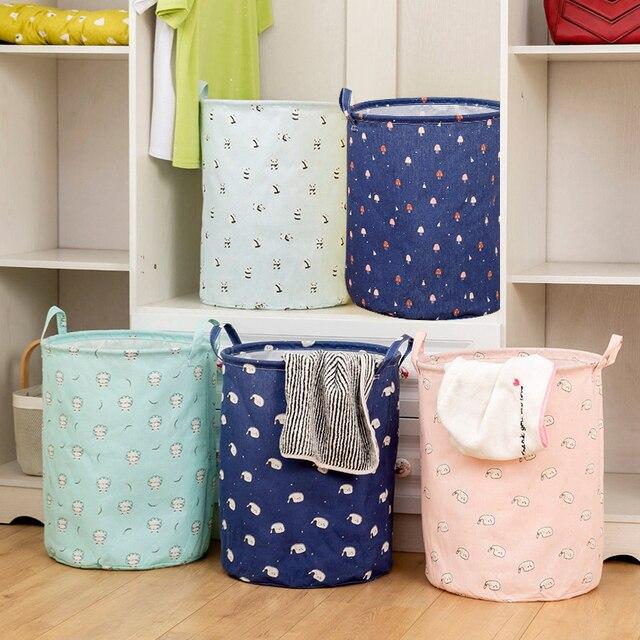 Grande capacité panier à linge vêtements sales panier en tissu grande boîte de rangement de vêtements pliable panier de rangement pour linge jouet support ^