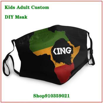 mascarillas con filtro estampadas Rasta Rastafari Lion King African Flag masque reutilisable enfant Dustproof Mouth Mask