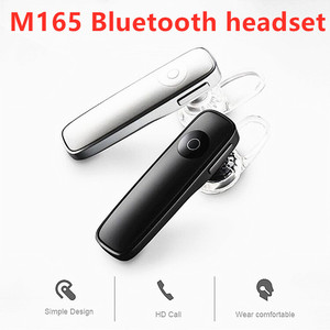 2020 New 4.1 Bass Stereo Headset M165 Bluetooth Wireless Earphone Hands-free Earloop Earbuds IOS Android Sports Music Earpieces