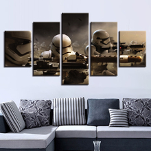 Modular Pictures Wall Art 5 Pieces Star Wars Canvas Movie Painting Home Bedside Background Decor Modern Artwork Poster