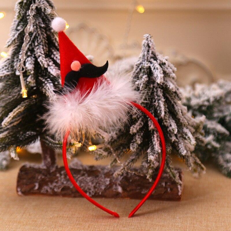 Рождественская шапка, повязка на голову, Рождественская декоративная шапка, повязка на голову, косплей, вечерние, шоу, повязка на голову, обруч для волос аксессуары для взрослых детей, Navidad - Цвет: B