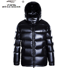 Winter Goose Down Jacket Men Hooded Thick Coat Puffer Jacket Men High Quality Men #8217 s Down Jackets 2020 M0YYF8002 KJ3226 cheap REGULAR M7YYF8001 Casual zipper Full Pockets NONE Thick (Winter) Broadcloth NYLON Grey goose down 250g-300g Solid men s winter down jacket